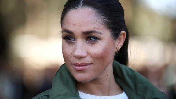 RABAT, MOROCCO - FEBRUARY 25:  Meghan, Duchess of Sussex visits the Moroccan Royal Federation of Equitation Sports on February 25, 2019 in Rabat, Morocco. The Duke and Duchess of Sussex are on a three day visit to the country. (Photo by Hannah Mckay - Pool / Getty Images)