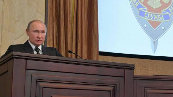 Vladimir Putin stated that Russian security services stopped nearly 600 spies last year, while speaking at a board meeting of the Federal Security Service (FSB).