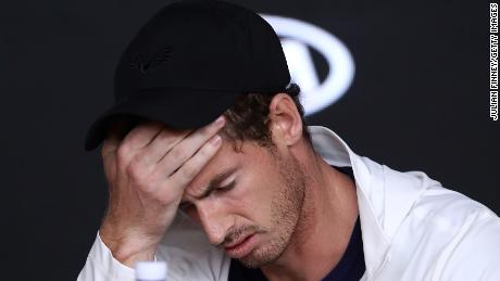Murray gets emotional during a press conference following his first round defeat at the 2019 Australian Open.