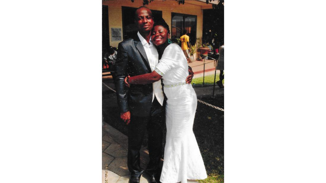 Thelma (right) with her husband Terrance Oppong-Sagoe.