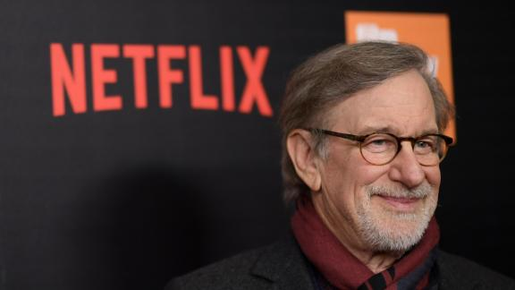 Steven Spielberg attends a Netflix event in 2017.