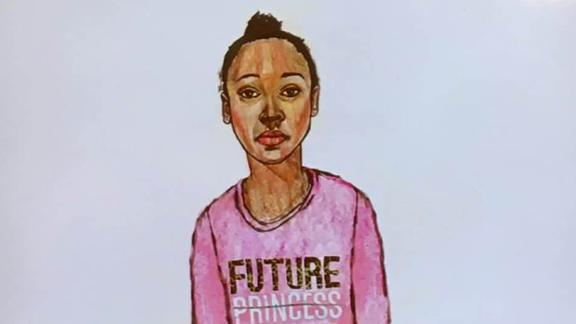 A composite sketch shows the girl whose body was found Tuesday.