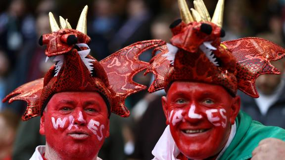 By way of example, these two Welshmen have dragons on their heads...