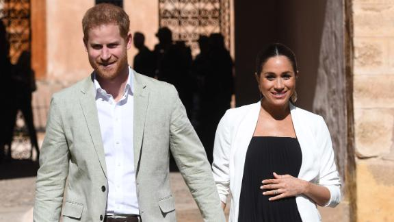 RABAT, MOROCCO - FEBRUARY 25:  Prince Harry, Duke of Sussex and Meghan, Duchess of Sussex walk through the walled public Andalusian Gardens which has exotic plants, flowers and fruit trees during a visit on February 25, 2019 in Rabat, Morocco.  (Photo by Facundo Arrizabalaga - Pool/Getty Images)