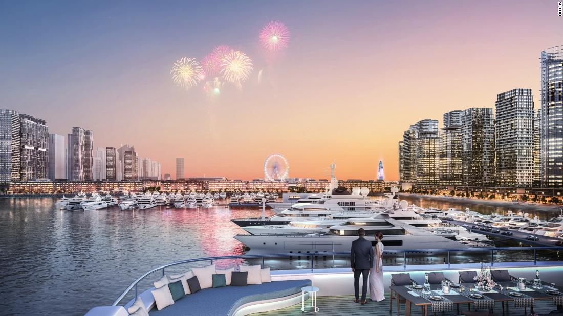 Built in the heart of Dubai, the marina will be the biggest in the Middle East and will have three marina bays: Harbor Marina (on the western side), Bay Marina (on the eastern side) and the smaller Palm View Marina (on the north side).