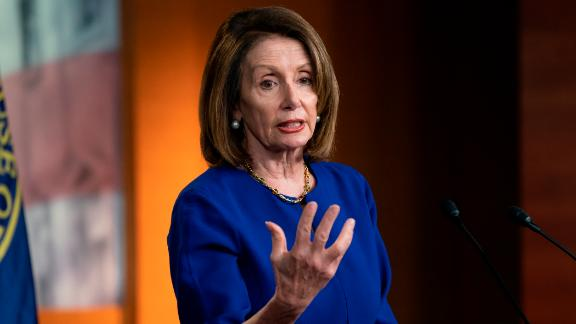 Speaker of the House Nancy Pelosi meets with reporters during her weekly news conference, at the Capitol in Washington, Thursday, March 7, 2019. (AP/J. Scott Applewhite)