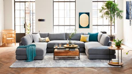 West Elm partnered with Rent the Runway to offer a selection of pillows, blankets and covers.