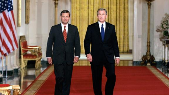 In 2005, Bush nominated Roberts to replace retiring Supreme Court Justice Sandra Day O
