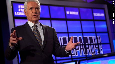 "YORKTOWN HEIGHTS, NY - JANUARY 13:  Host of ""Jeopardy!"" Alex Trebek attends a press conference to discuss the upcoming Man V. Machine ""Jeopardy!"" competition at the IBM T.J. Watson Research Center on January 13, 2011 in Yorktown Heights, New York.  (Photo by Ben Hider/Getty Images)"