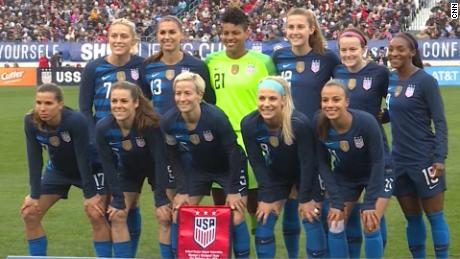 78970d102df US women s soccer members sue for gender discrimination - CNN Video