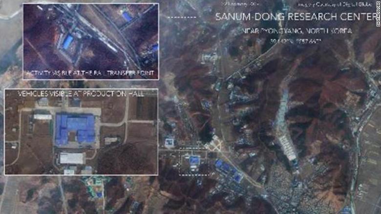Images show North Korean rocket facility activity on seoul korea at night, map of south north korean peninsula night, map of us at night, earth from satellite at night, texas satellite at night, map of south korea night, aerial view of north korea at night,