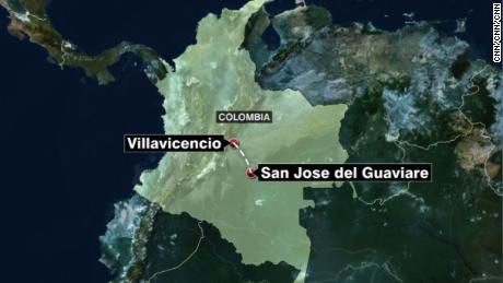 Officials in Colombia say 12 people are dead.