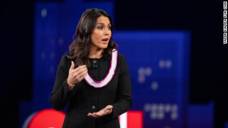 Hawaii Rep. Tulsi Gabbard speaks during the CNN Democratic Presidential Town Hall at SXSW at ACL Live at the Moody Theater in Austin, Tex., on March 10, 2019. (Tamir Kalifa for CNN)