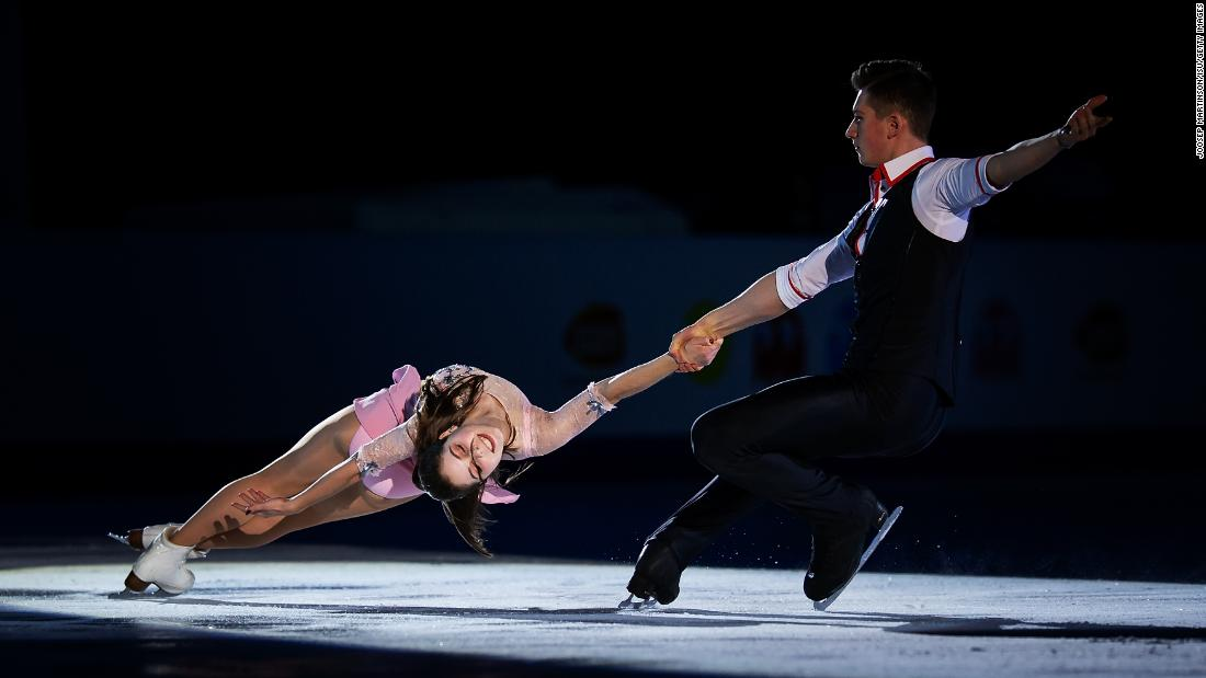 Anastasia Mishina and Aleksandr Galliamov of Russia compete during day 5 of the ISU World Junior Figure Skating Championships on Sunday, March 10 in Zagreb, Croatia.