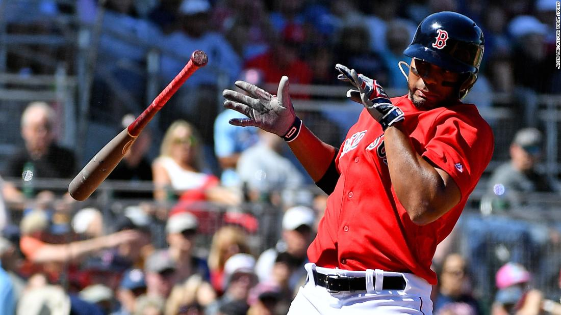 Boston Red Sox shortstop Xander Bogaerts dodges a pitch during the second inning of a spring training game against the Pittsburgh Pirates on Wednesday, March 6, at JetBlue Park in Fort Myers, Florida.