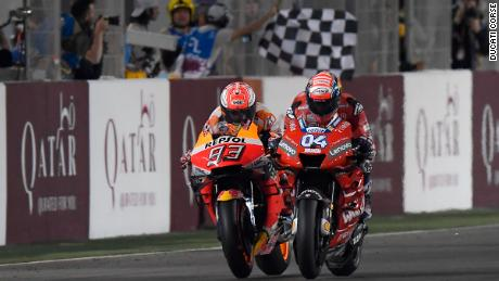 Dovizioso beats Marquez on the line