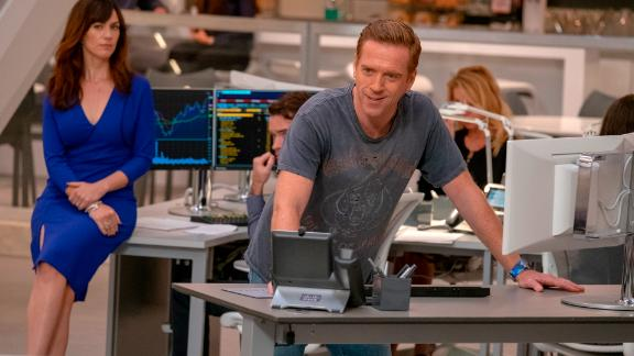 Maggie Siff, Damian Lewis in 'Billions'