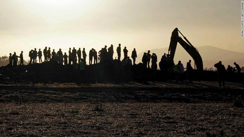 Forensic team searches Ethiopian Airlines crash site