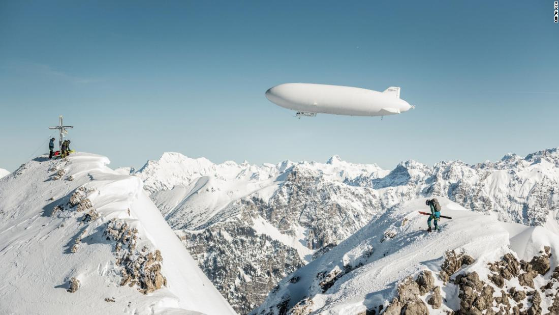 "Ager said: ""This is a world's first, a Zeppelin has never embarked on such an adventure."""
