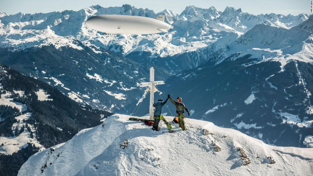 While heli-skiing has long existed, Zeppelin-skiing is very much a new idea.