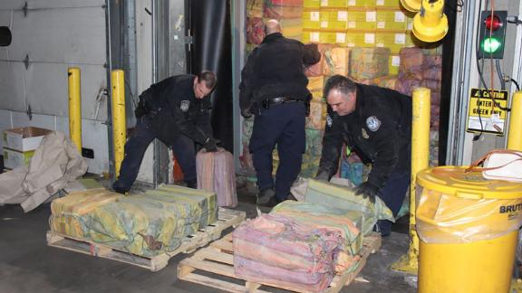 Officials from multiple city, state and federal agencies discovered around 3,200 pounds of cocaine in a shipping container that arrived from Colombia.