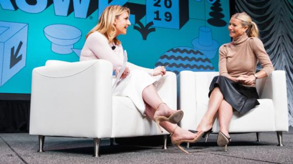Poppy Harlow interviews Gwyneth Paltrow  at the SXSW festival in Austin.