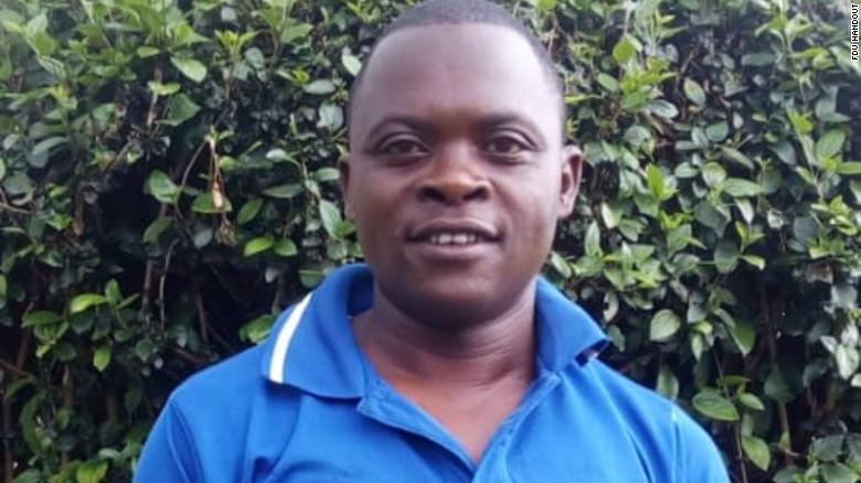 Anselme Mutuyimana's body was found in a forest in March.