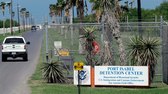 FILE - In this June 26, 2018, file photo, a U.S. Border Patrol truck enters the Port Isabel Detention Center, which holds detainees of the U.S. Immigration and Customs Enforcement, in Los Fresnos, Texas. Parents who have been separated from their children at the border are in fragile state of mind as they go into high-stakes initial screening interview for asylum. A network of volunteer lawyers has counseled about 210 separated parents at Port Isabel Detention Facility, including about 150 who have already done initial interviews. (AP Photo/David J. Phillip, File)