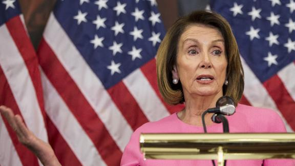 House Minority Leader Nancy Pelosi holds a news conference following the 2018 midterm elections at the Capitol Building on Tuesday in Washington.