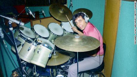 Hal Blaine, in an undated photo, played on 40 No. 1 hits for some of the biggest names in pop music.