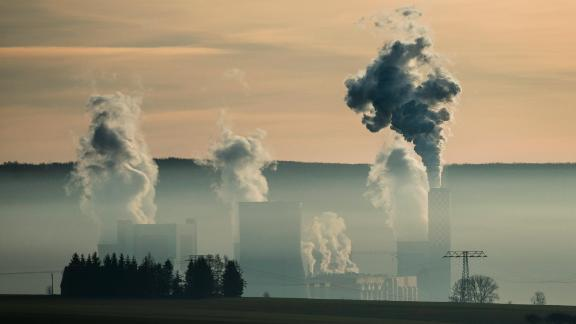 A coal-fired power plant in Poland belches emissions.