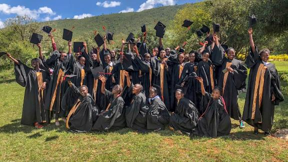 The graduating class of 2019 at Kisaruni All Girls' Secondary School, a WE Villages school in Kenya.
