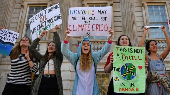 London: Students join the Youth Strike 4 Climate protest on February 15, 2019.