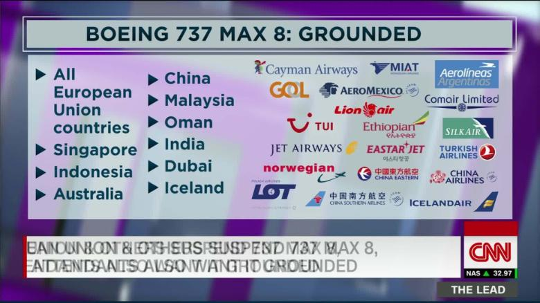 U S  resists calls to suspend Boeing 737 Max 8 after other countries ground  it