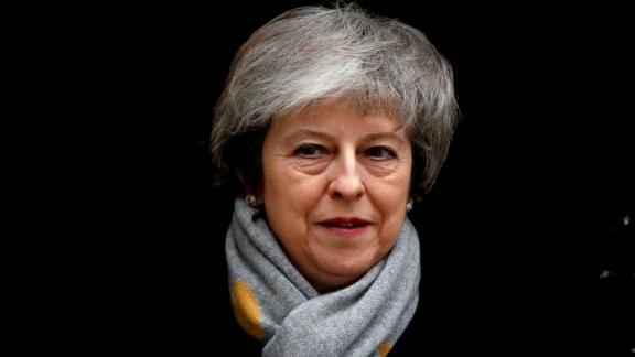 Britain's Prime Minister Theresa May leaves Downing street after the weekly cabinet meeting in London on January 15, 2019. - Parliament is to finally vote today on whether to support or vote against the agreement struck between Prime Minister Theresa May's government and the European Union. (Photo by Adrian DENNIS / AFP)        (Photo credit should read ADRIAN DENNIS/AFP/Getty Images)