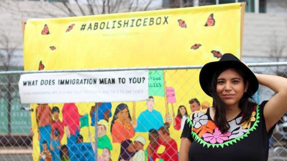 """Yocelyn Riojas is one of the artists behind the """"hielera"""" at SXSW."""