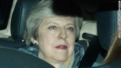 Britain's Prime Minister Theresa May leaves the Houses of Parliament on March 12, 2019.