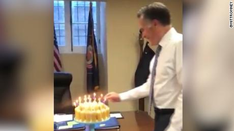Video Of Romney Blowing Out Candles Lights Up Internet