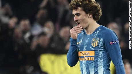 Atletico Madrid's French forward Antoine Griezmann failed to make an impact this time around.