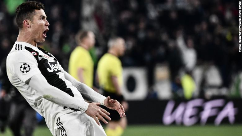 Cristiano Ronaldo mimicked Diego Simeone's celebration after helping Juve eliminate Atleti from the Champions League.