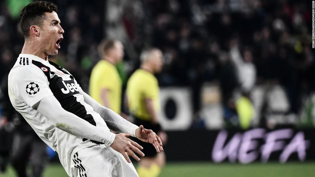 59a627dc8 Cristiano Ronaldo hat-trick keeps Juve's Champions League dream alive with  stunning win over Atletico Madrid - CNN