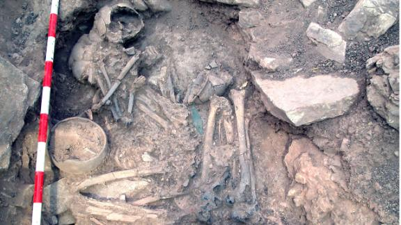 During a study of the ancient Iberian population, the remains of a man and woman buried together at a Spanish Bronze Age site called Castillejo de Bonete showed that the woman was a local and the man