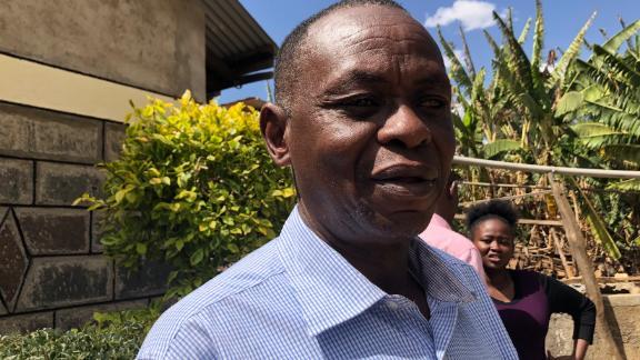 John Quindos Karanja lost his wife, his daugher and his three grandchilren in the plane crash.