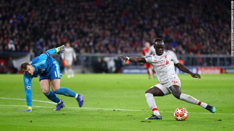 Sadio Mane gave Liverpool the lead in Munich.