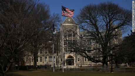 WASHINGTON,  - MARCH 12: The campus of Georgetown University is shown March 12, 2019 in Washington, DC. Georgetown University and several other schools including Yale, Stanford, the University of Texas, University of Southern California and UCLA were named today in an FBI investigation targeting 50 people as part of a bribery scheme to accept students with lower test scores into some of the leading universities across the United States. (Photo by Win McNamee/Getty Images)
