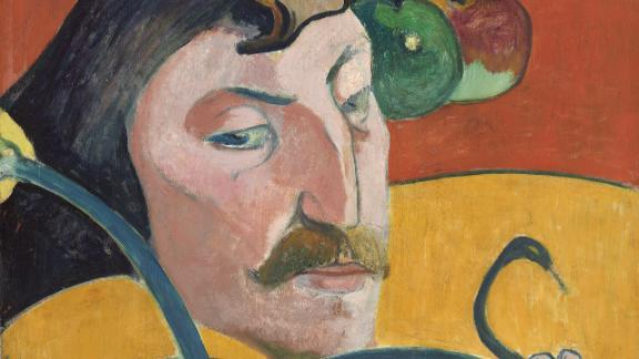 An 1889 self-portrait by Paul Gauguin, who some have speculated had syphilis.