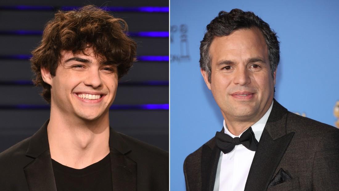 Fans think Noah Centineo, left, resembles actor Mark Ruffalo, right.