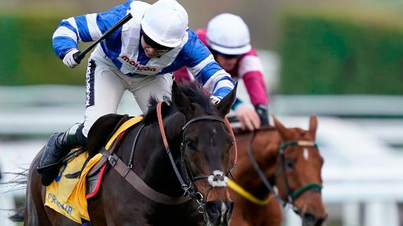 Bryony Frost made history when she partnered Frodon to win and become the first female jockey to clinch a Grade 1 at the Festival.