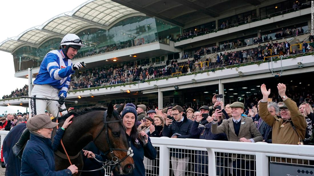 The pair's victory sparked emotional scenes as they returned to the winner's enclosure in front of packed stands.