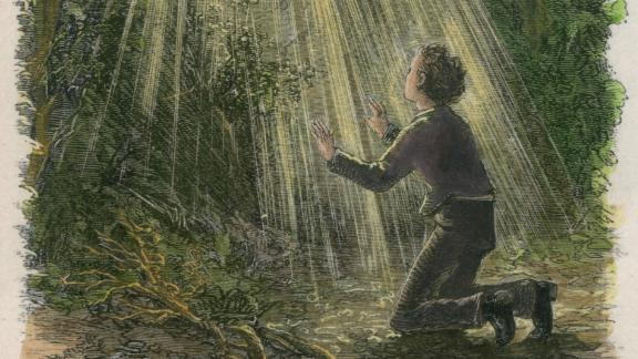 Mormonism began after Joseph Smith said he saw God and Jesus in a vision while praying in a grove of trees.